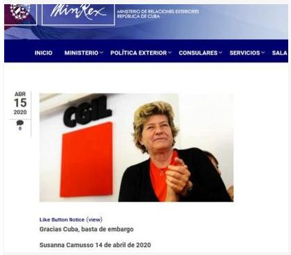 Grazie Cuba, basta embargo!