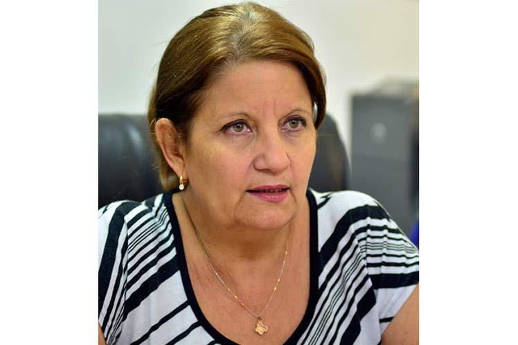 Miriam Alpízar, viceministra de Educación de Cuba