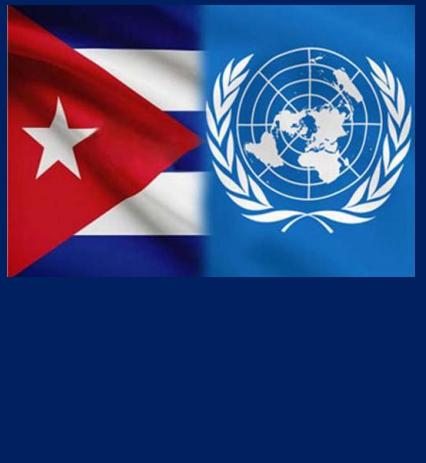 Bandiere Cuba e ONU