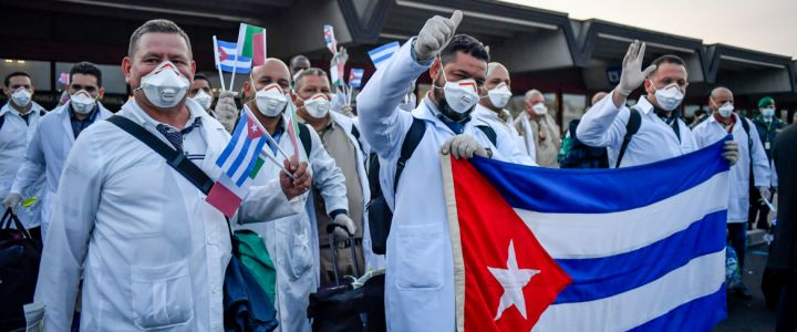Medici cubani aeroporto di Roma