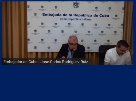 Ambasciatore di Cuba in Italia- 2021