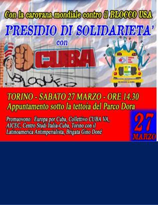 PRESIDIO a Torino contro il Blocco USA