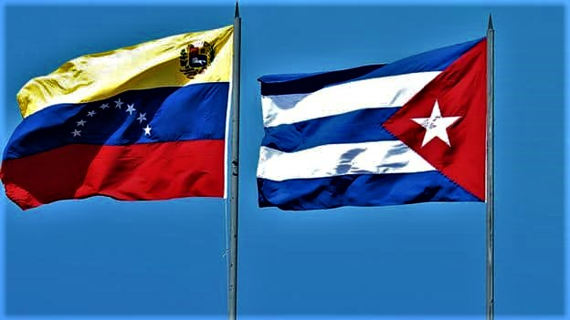 Bandiere di Cuba e Venezuela