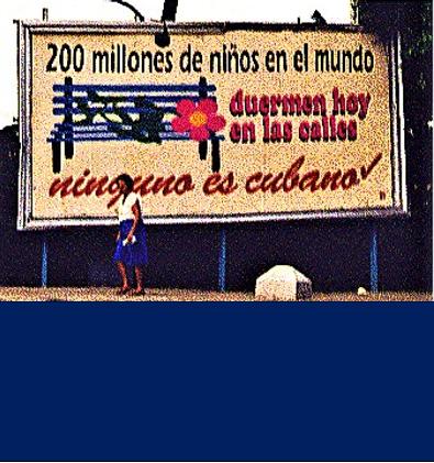 Cartellone a Cuba sui Diritti umani