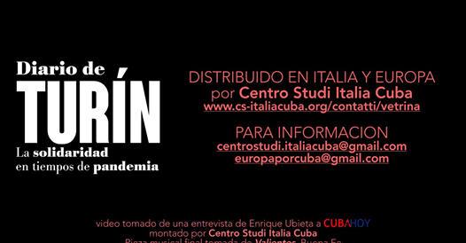 Diario de Turín – La solidaridad en tiempos de pandemia di ENRIQUE UBIETA