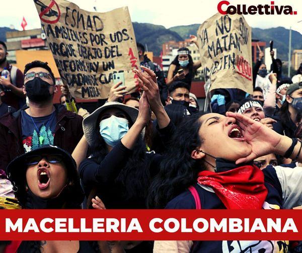 Colombia manifestanti