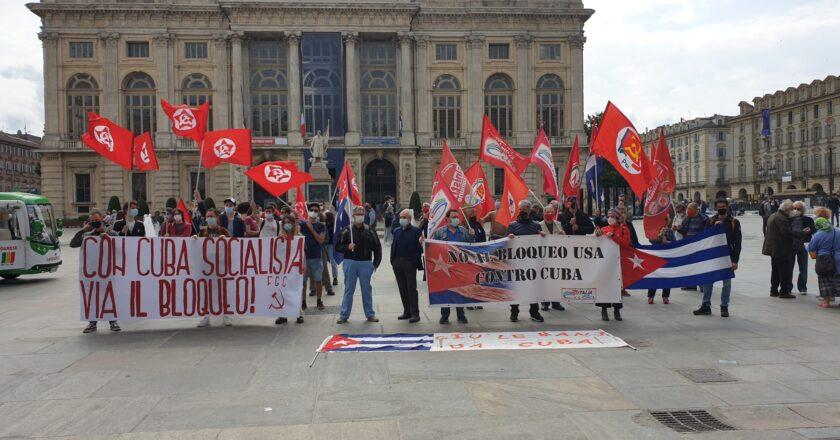 Insieme a tante altre città italiane, con l'Associazione Italia Cuba, Torino dice basta all'assedio illegittimo e illegale degli USA contro Cuba! NO BLOQUEO!