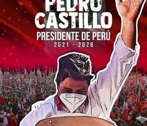 Una nuova bellissima notizia ci arriva dall'America Latina: Il Maestro marxista Pedro Castillo sarà il nuovo Presidente del Perù.
