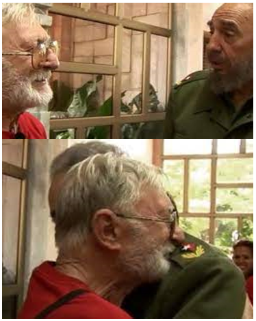 Gino Donè con Fidel Castro