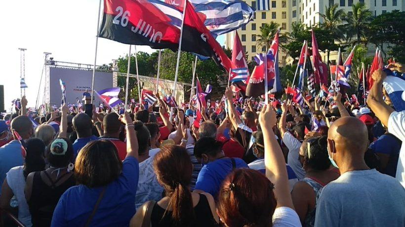 Manifestazione di solidarietà al Governo di Cuba