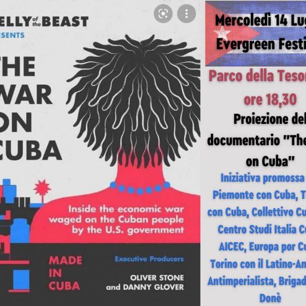 VIAGGIO NELLA GUERRA CONTRO CUBA: Mercoledì 14 luglio a Torino – Parco della Tesoriera ore 18,30