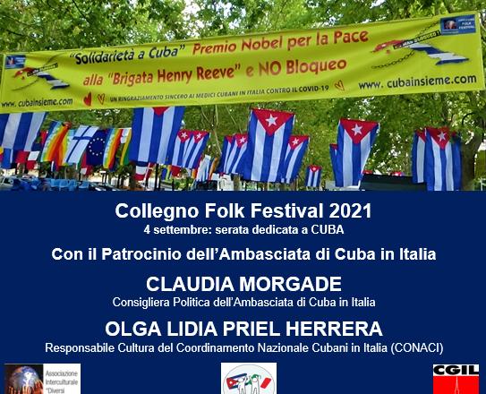 COLLEGNO FOLK FESTIVAL 2021: IL FILMATO DELLA SERA DEL 4 SETTEMBRE CON CUBA.