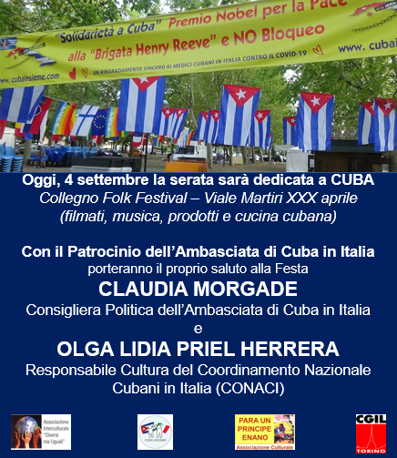 Manifesto Festa Collegno Folk Festival - 4 settembre 2021