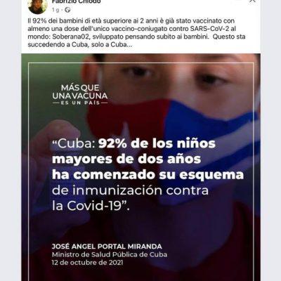 LA TERRIBILE DITTATURA CUBANA STA VACCINANDO TUTTI, PROPRIO TUTTI.