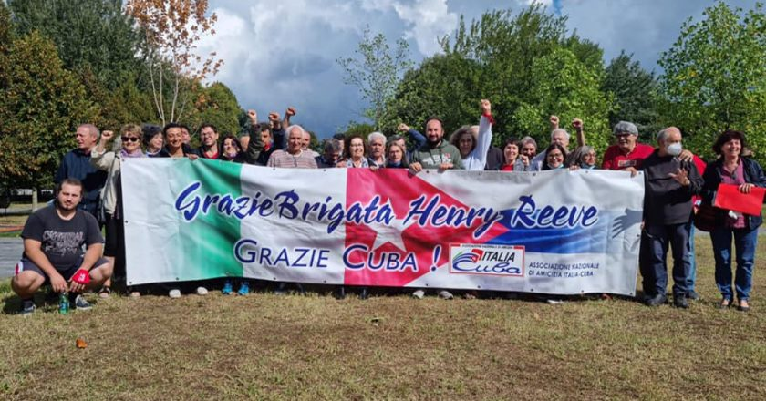 """Parteciperemo alla Marcia per la Pace PERUGIA – ASSISI 2021, con lo striscione """"GRAZIE BRIGATA HENRY REEVE – GRAZIE CUBA!"""""""